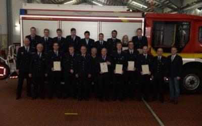 Mitgliederhauptversammlung 2019 der Feuerwehr Dinklage