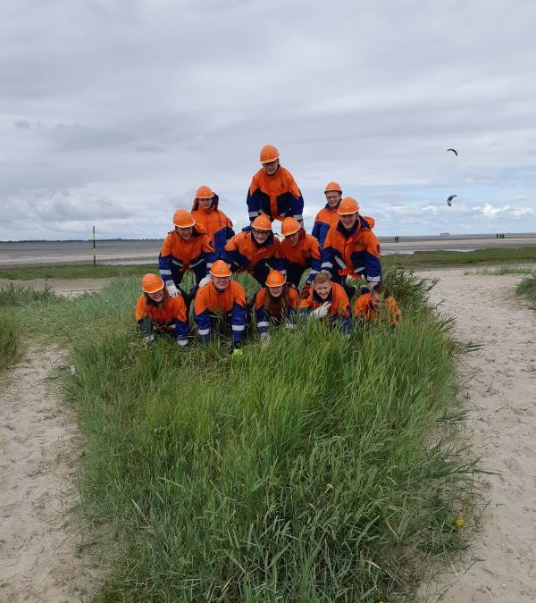 Jugendfeuerwehr Dinklage bezieht den Strand in Hooksiel!