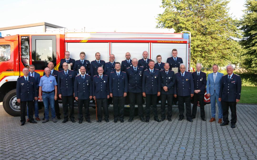 Mitgliederhauptversammlung 2021 der Feuerwehr Dinklage